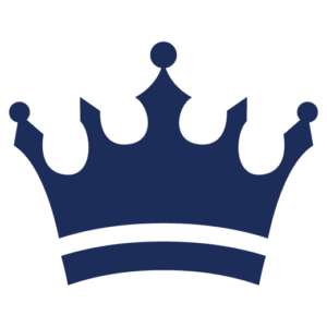 A blue crown.